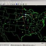 Atlas animado del tráfico aéreo en Norteamérica