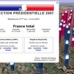 Las elecciones francesas en GoogleEarth