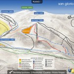Plano de las pistas de San Glorio