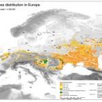 Mapa de loess en Europa