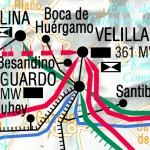 Mapa de la red de transporte de energía eléctrica española