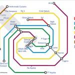 El mapa de metro de la Vía Láctea