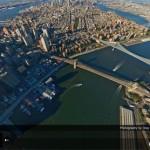 """Impresionante """"vuelo"""" sobre Nueva York"""