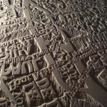 "Mapas  ""tipográficos"" en relieve"