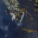 Incendios en Grecia (Imagen de satélite)