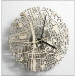 Relojes de pared con motivos cartográficos