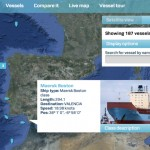 """Los navíos de la Maersk en """"tiempo real"""""""