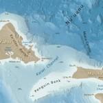 Mapa batimétrico de las islas Hawái