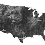"""Mapa de vientos en """"tiempo real"""""""