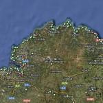 Cartografía de áreas de baño en Europa
