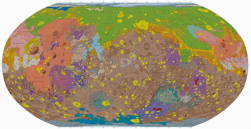 Mapa geológico de Marte 2014
